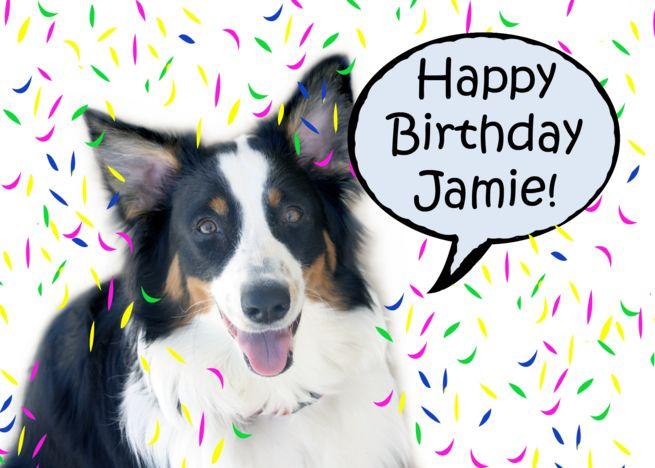 Happy Birthday Aussie Jamie Card Happy Birthday Birthday Cards