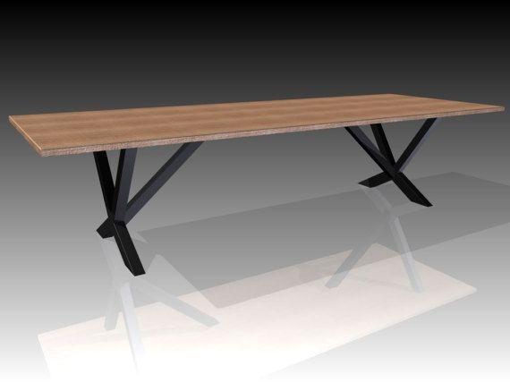 Schreibmaschinen Tischleder Metallleder Tisch Esstisch Etsy Tavolo Gambe Legno