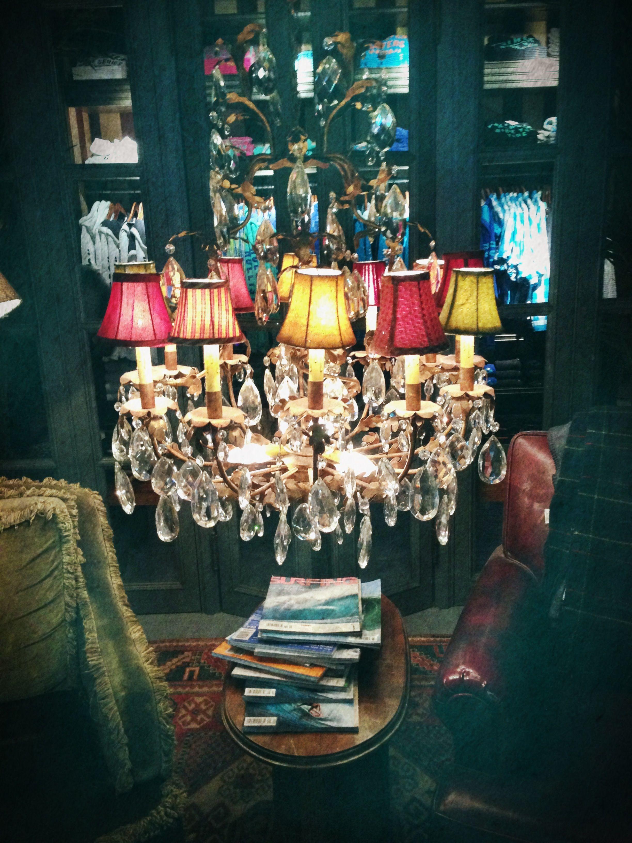 Chandelier In The Hollister shop Store – Shop Chandeliers
