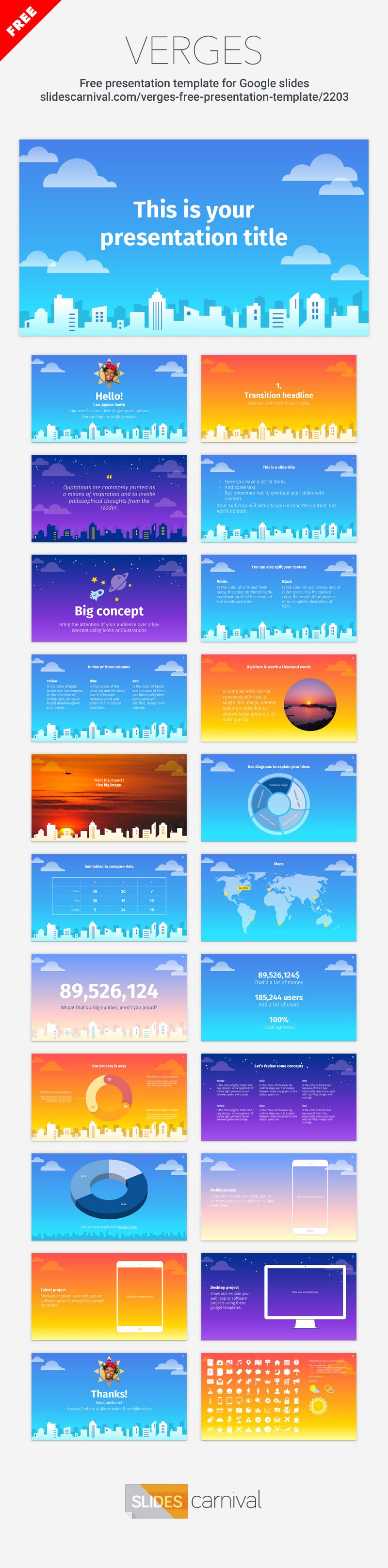 Enjoy this fun free presentation template with a big city skyline as enjoy this fun free presentation template with a big city skyline as an illustrated background motif your presentations wont be boring no more if you maxwellsz