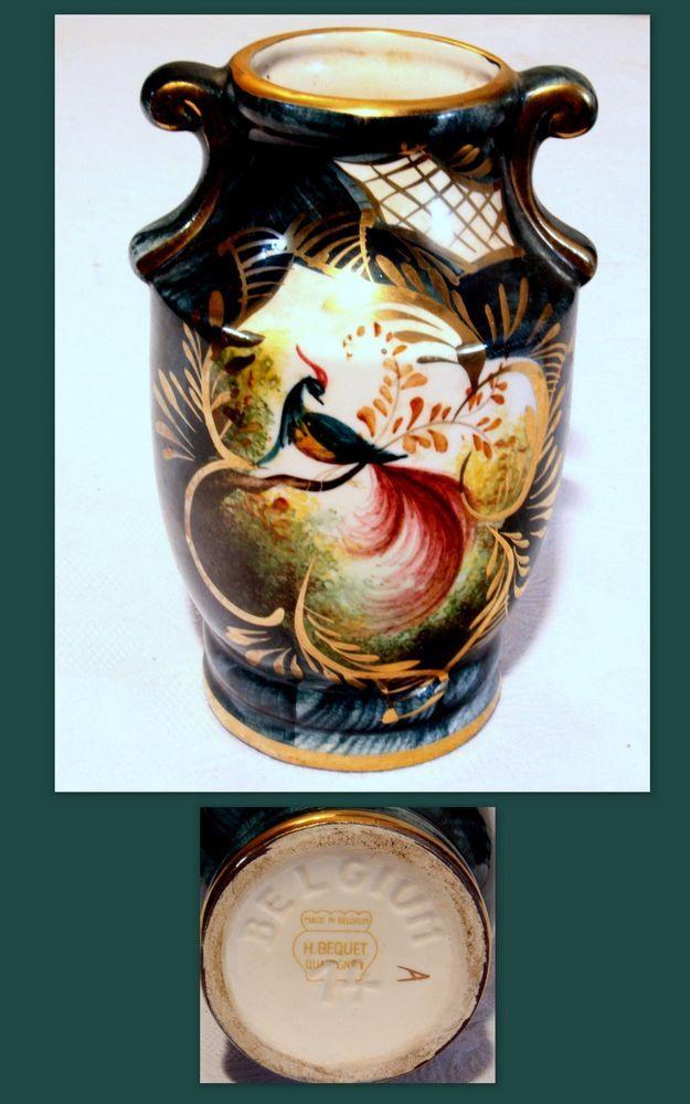 Petit Vase Amphore En Faience Bequet Belgique Vase Belgium