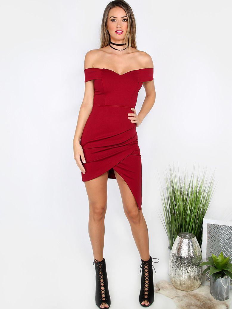 Wunderbar Womens Red Cocktail Dress Fotos - Brautkleider Ideen ...