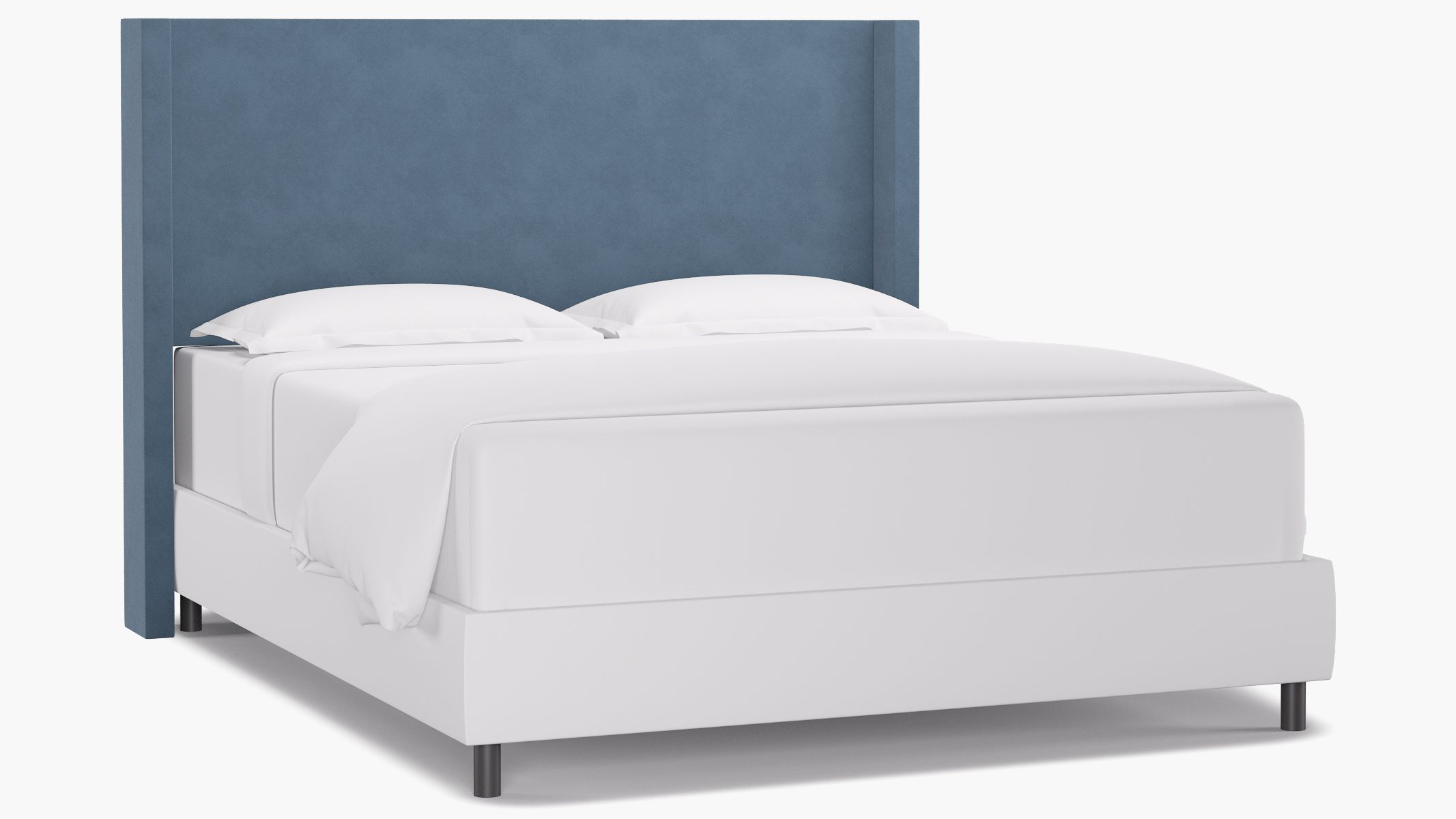 Our Modern Wingback Headboard is classic and stylish and will turn your bedroom into a luxury hotel suite.
