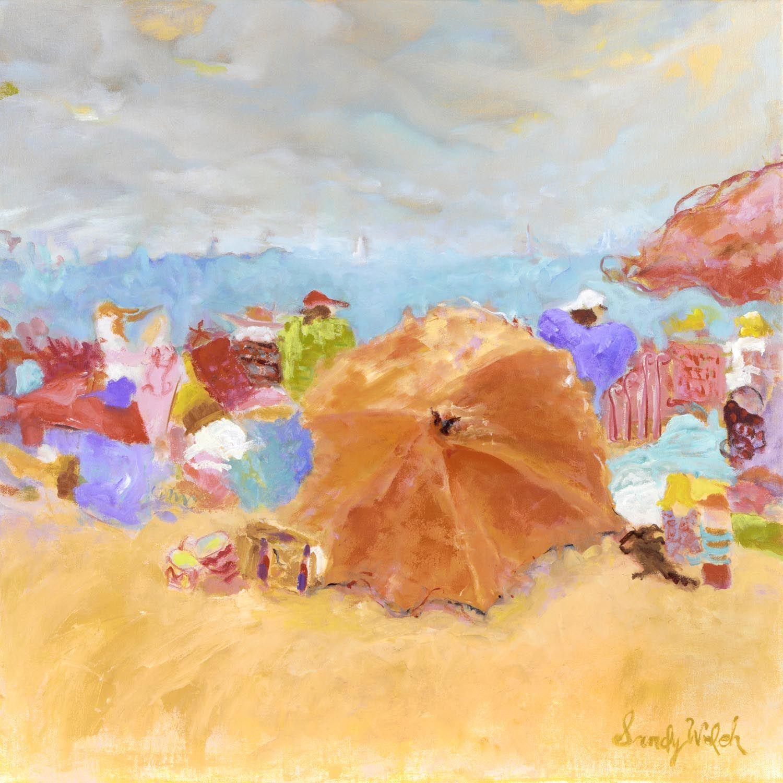 Orange Umbrella  Artist, Sandy Welch