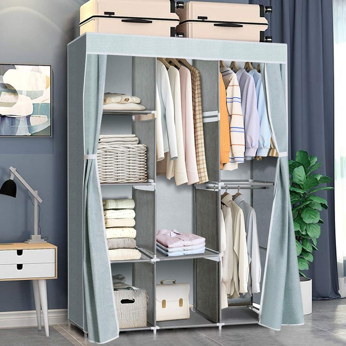 Portable Clothes Closet Storage Organizer Clothes Rack 36 95 Free Shipping Our Portable Cl Closet Clothes Storage Storage Closet Organization Closet Storage