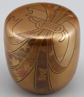 棗(なつめ)金地のし蒔絵 Wajima lacquer ware