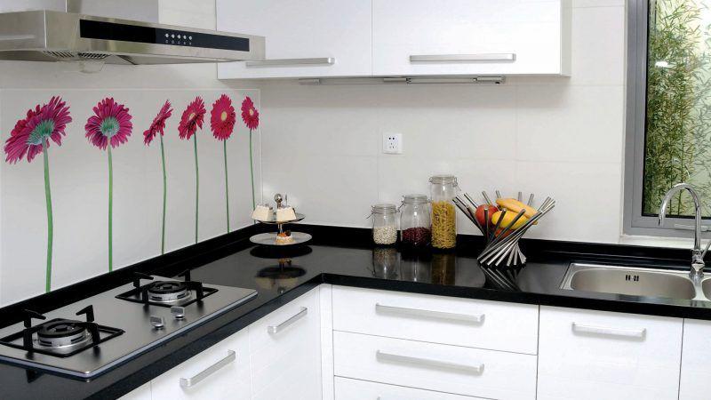weiße küche glasrückwand | Küche | Glasrückwand, Glasrückwand küche ...