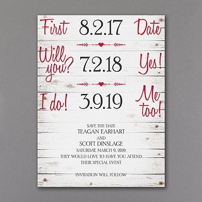 Rustic Timeline Save The Date Tell Story Of Your Relationship In A Fun Way