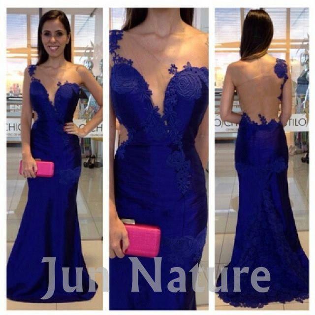 Vestido Azul Rey Largo Buscar Con Google Vestidos