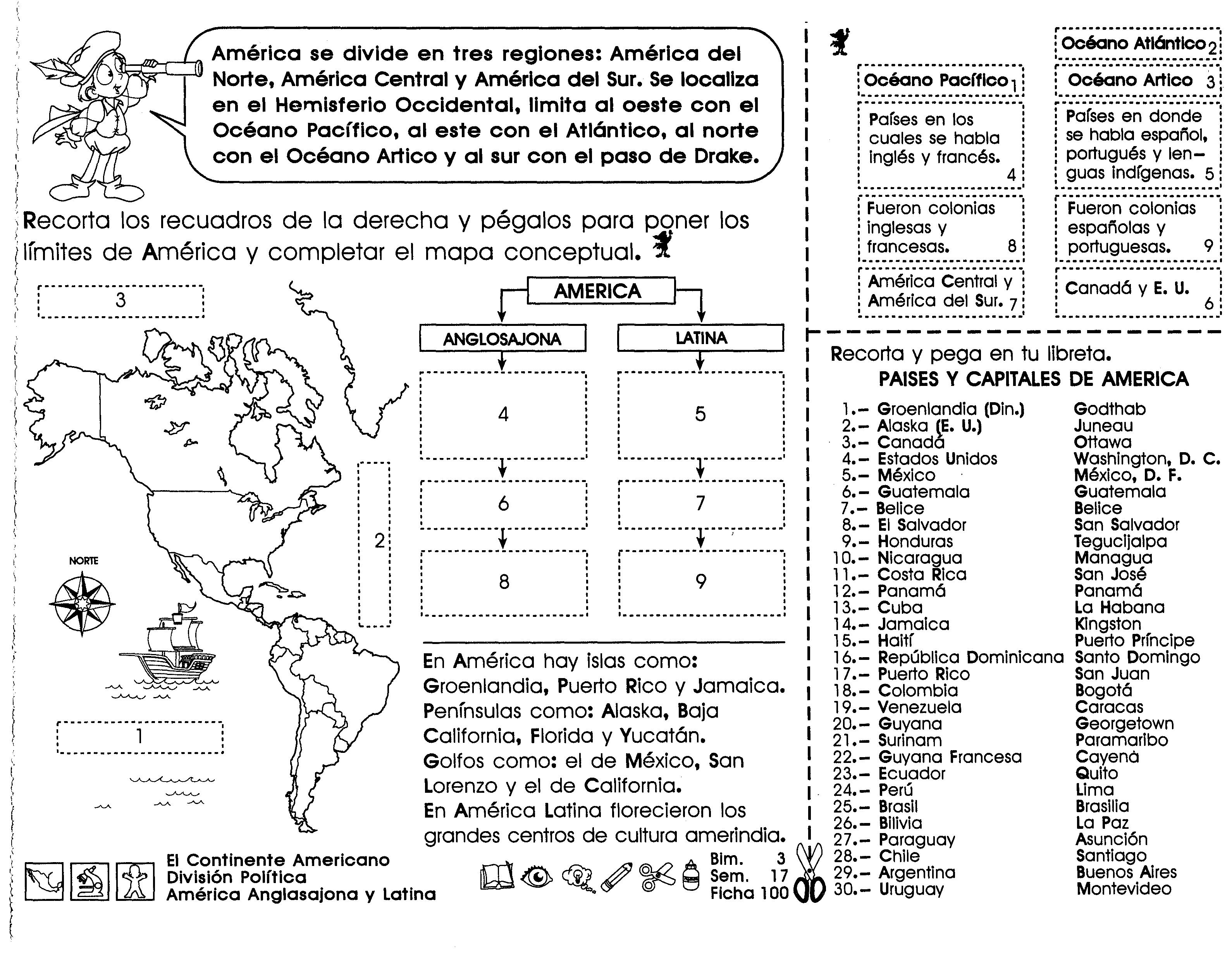 Resultado De Imagen De Los Continentes Para Niños