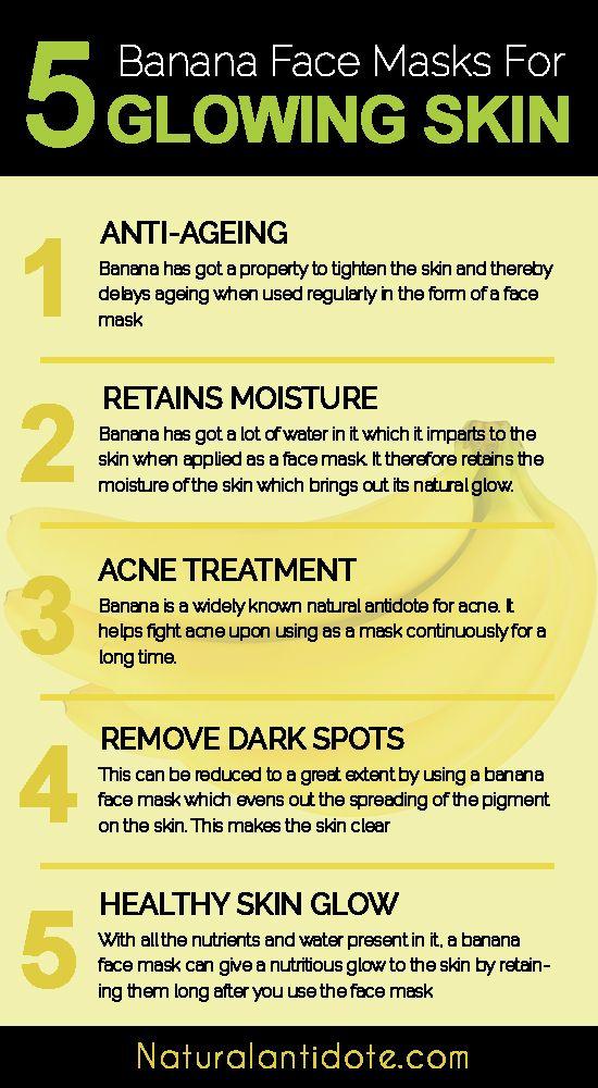 Banana Face Mask For Glowing Skin Naturalantidote Com Banana Face Mask Glowing Skin Mask Sensitive Face Moisturizer