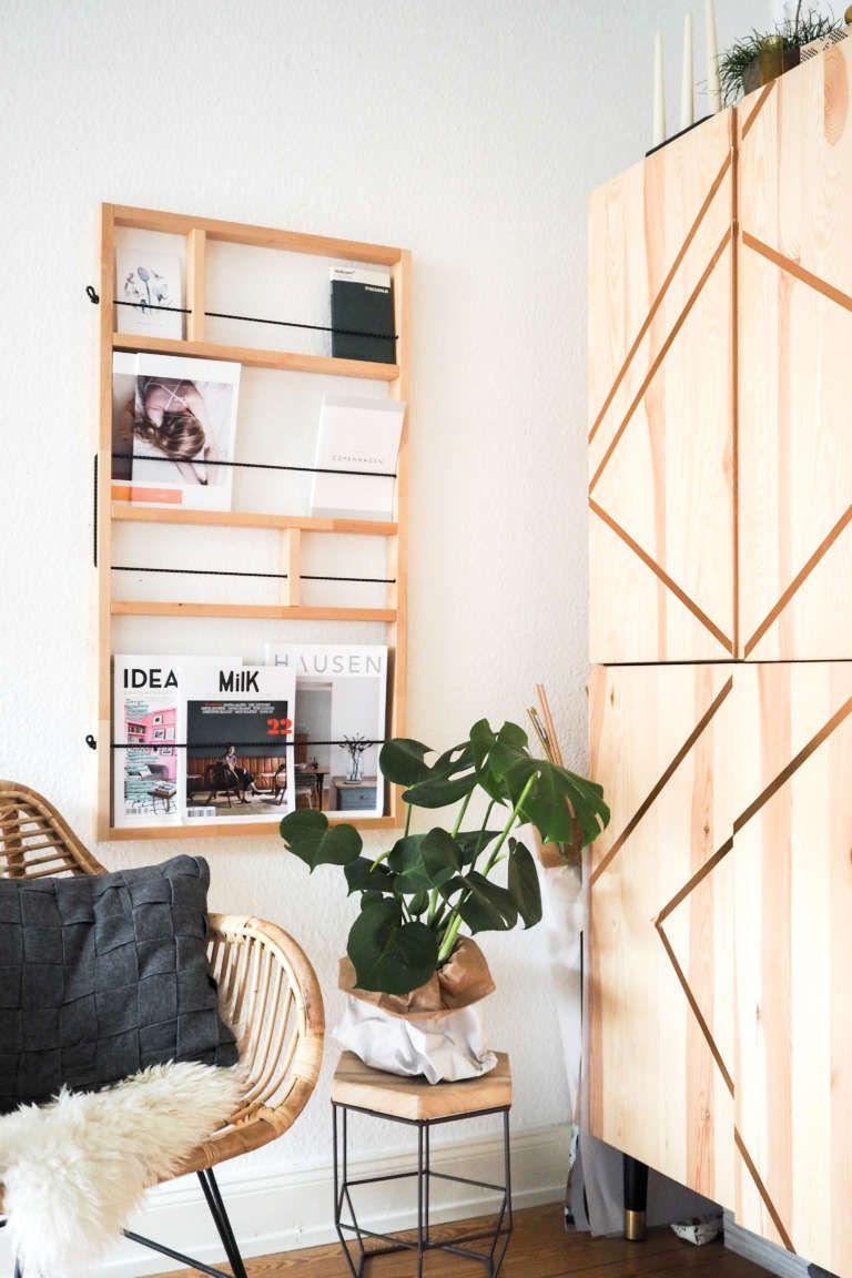 Wohnzimmer Einrichten Inspiration IKEA  Hack Ypperlig Ivar Zeitschriftenhalter