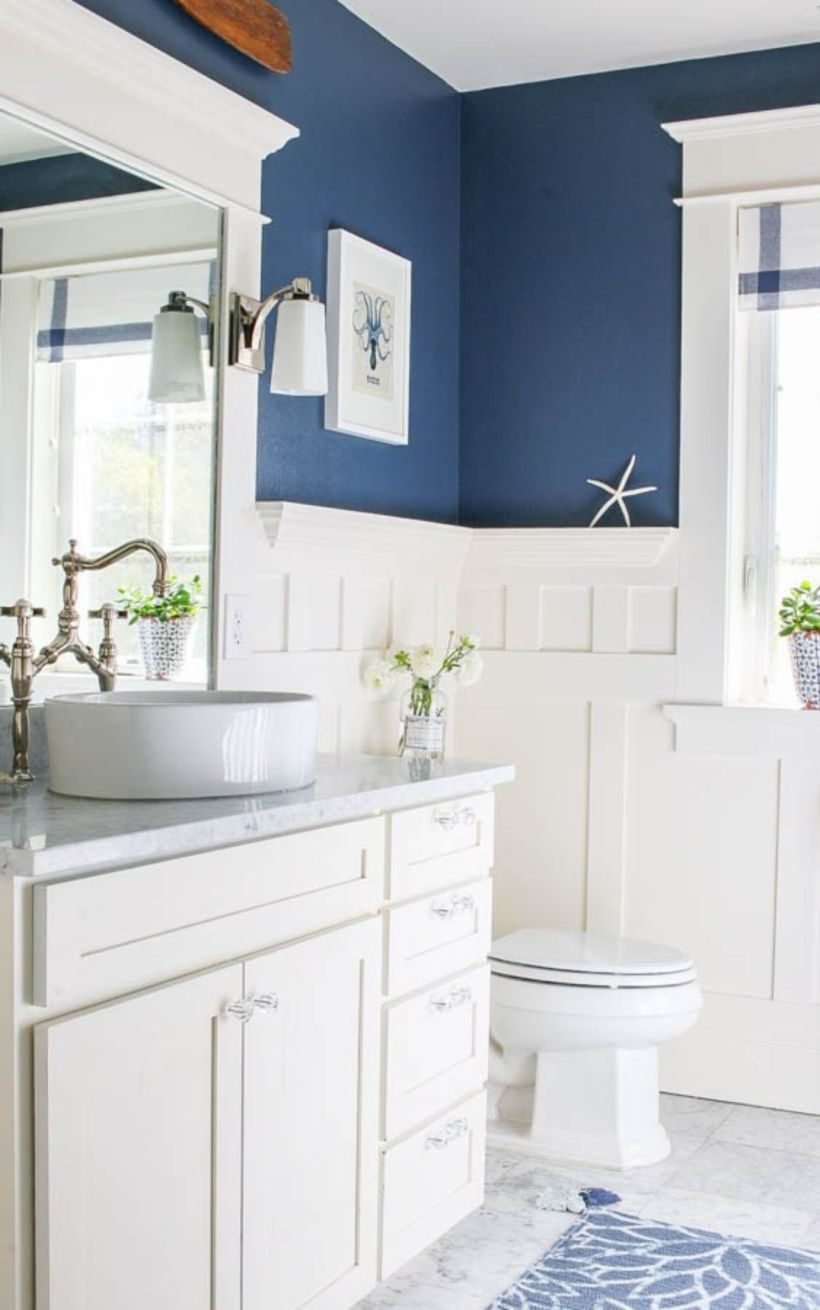 46 Paint Colors Farmhouse Bathroom Ideas | Compact bathroom ...