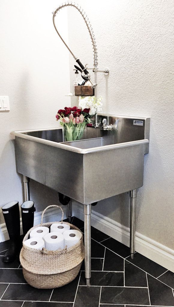 Delightful Double Basin Laundry Tub Freestanding Polypropylene Utility Sink Drain U0026  Faucet | DREAM HOME | Pinterest | Laundry Tubs, Sink Drain And Utility Sink
