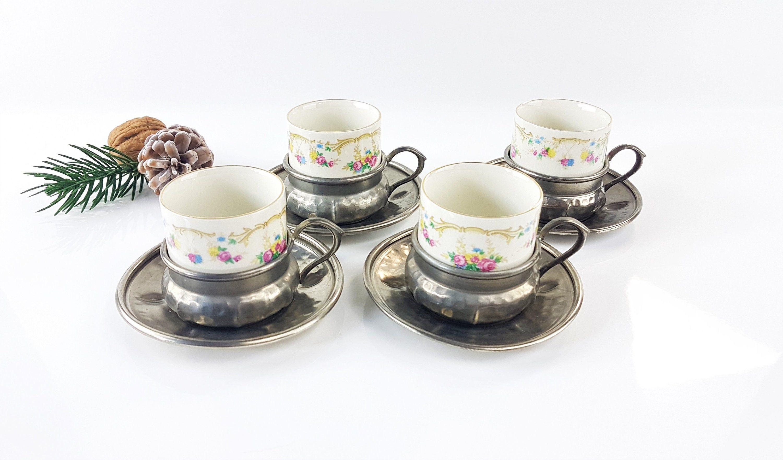 4 Espresso Mokka Kaffee Tassen Aus Josephin Porzellan Mit Etsy Mokka Kaffee Mokka Tassen
