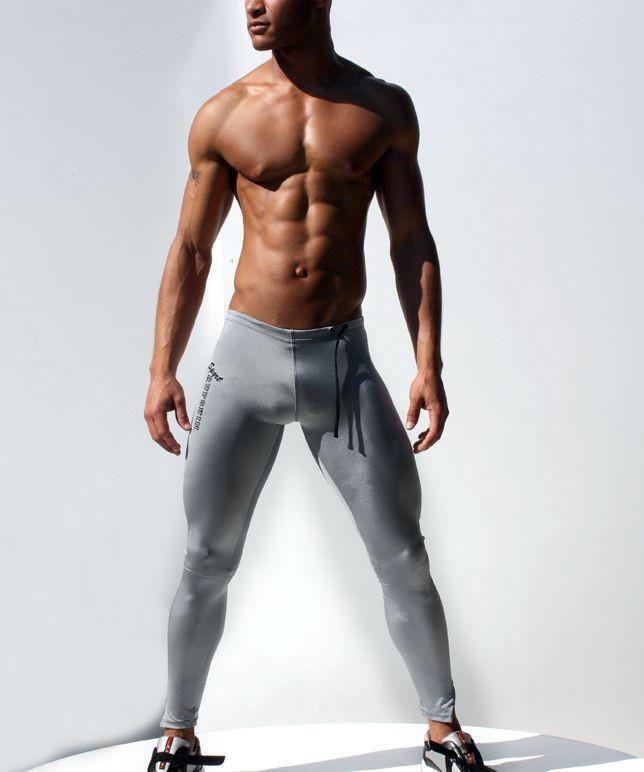 Men Gym Training Sports Workout Jogging Shorts Compression Tight Pants Shan