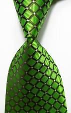 Hot Classic Striped Green White JACQUARD WOVEN 100/% Silk Men/'s Tie Necktie