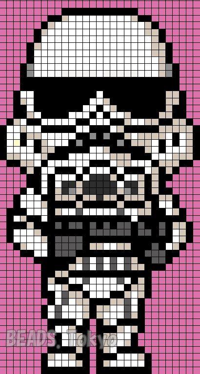 stormtrooper star wars perler bead pattern beads tokyo kostenlos kreuzstich h keln und. Black Bedroom Furniture Sets. Home Design Ideas