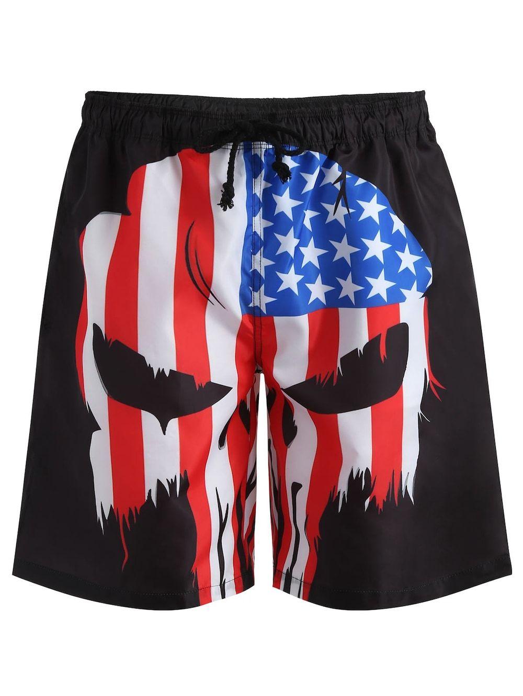 Drawstring American Flag Swim Trunks Swim Trunks American Flag Swimwear Mens Cardigan Sweater
