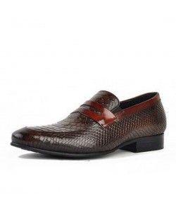 TEMADOU Italia Business Leather Shoe Sko herrer, skinn  Shoes mens, Leather