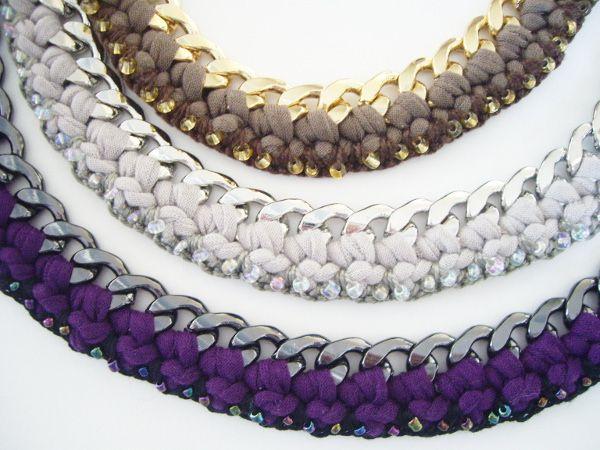 collier perle laine