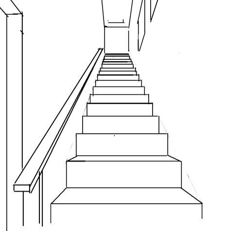 Crispy's Perspective Tips: The basics of Drawing Stairs