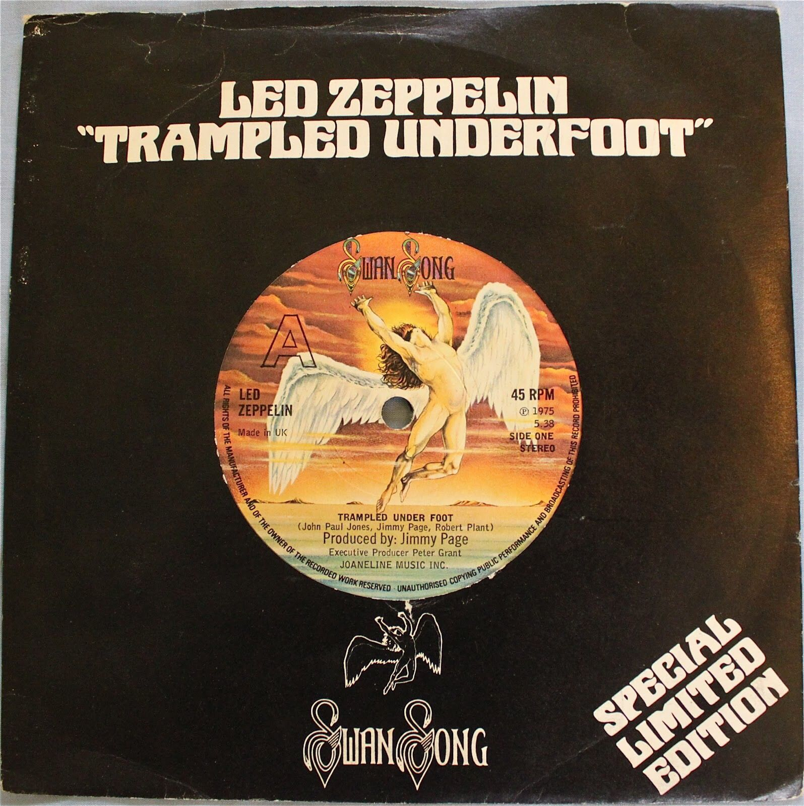 "Led Zeppelin - 7"" Trampled Under Foot (With images) 