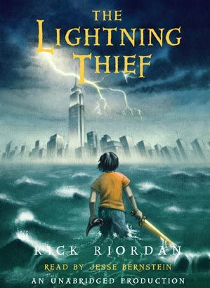 audio book review percy jackson and the lightning thief libros
