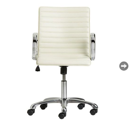 Sleek white home office chair from Crate and Barrel 376