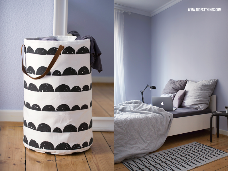 Toll Nicest Things: Grey Nordic Design Bedroom Decorating Ideas / Ferm Living  Laundry Basket