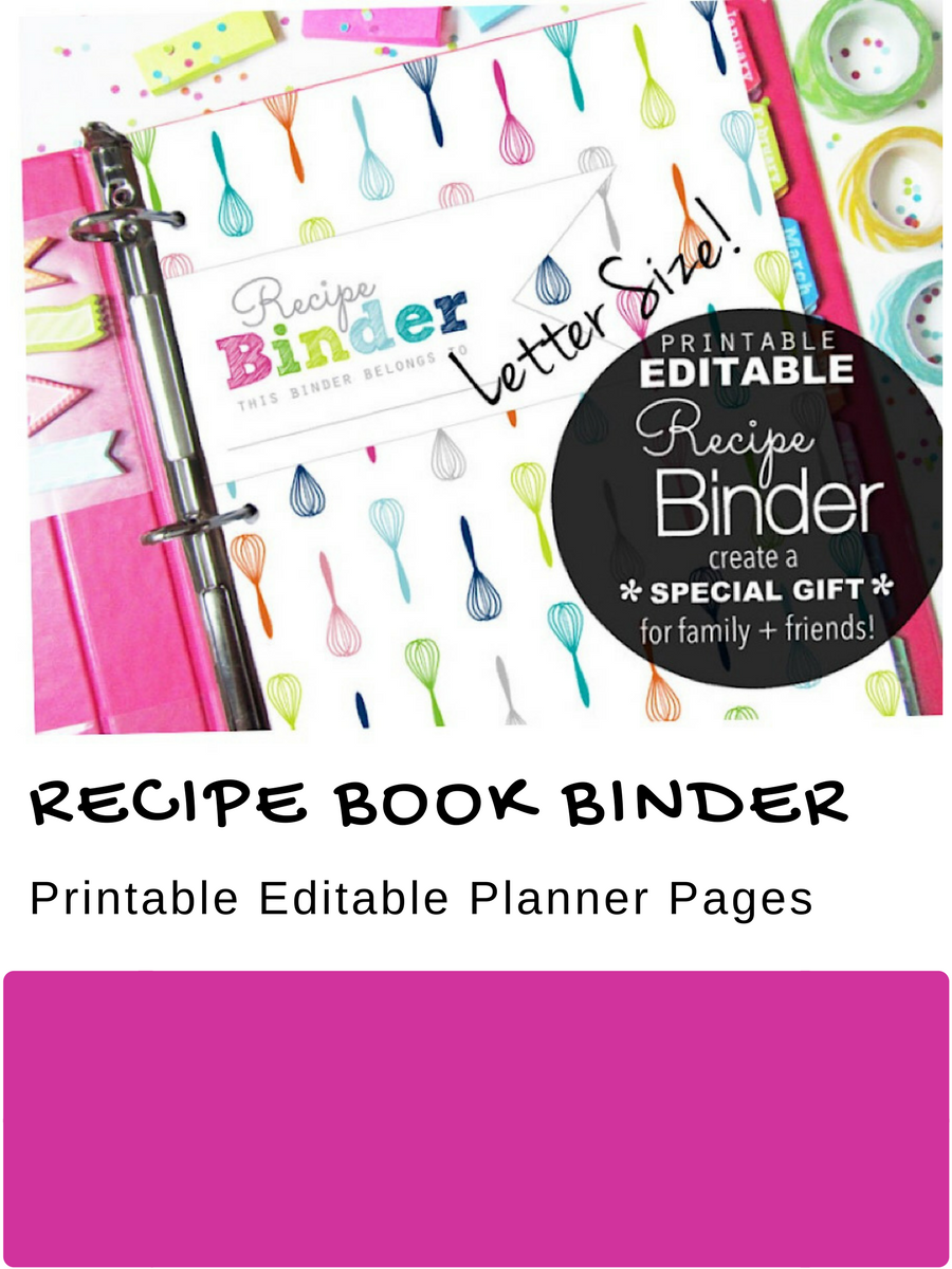 editable recipe binder with divider tabs i designed this
