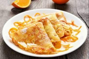 Cours de cuisine : Crêpes Suzette au sirop d'orange et au Grand Marnier