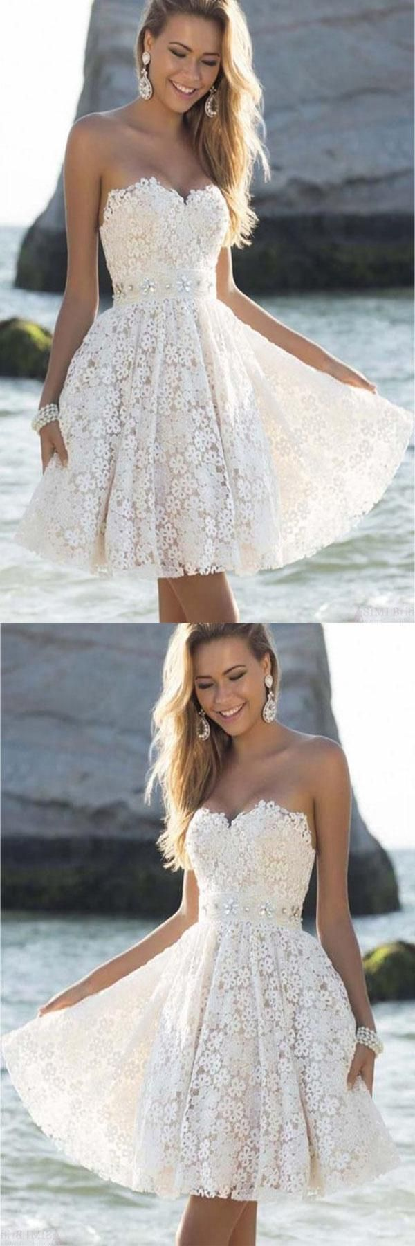 Short homecoming dress prom dresses white prom dresses short