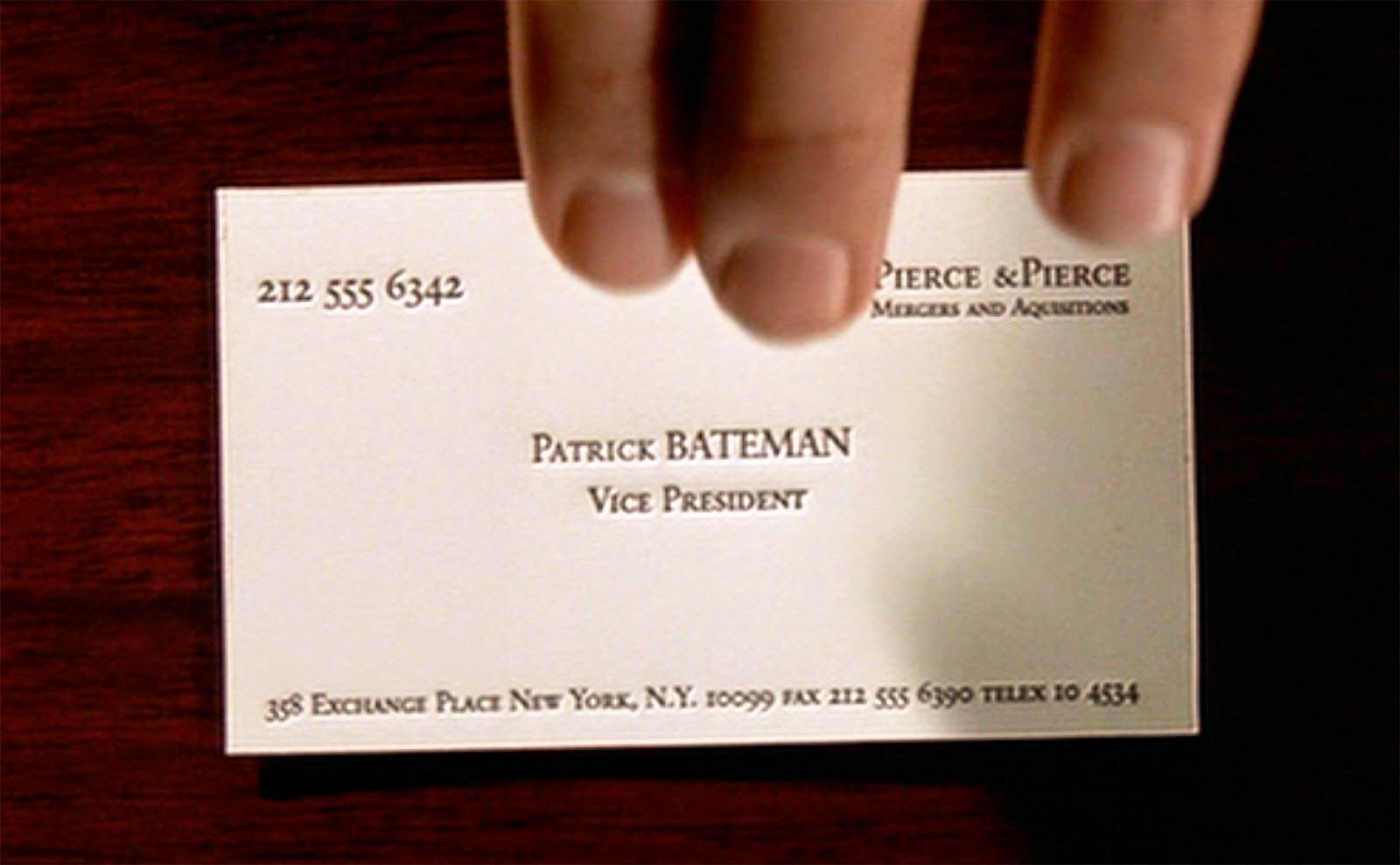 AmericanPsychoPatrickBatemanBusinessCardPicturejpg - American psycho business card template