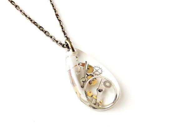 Collier de pièces pièces de petite montre dans par JustKJewellery