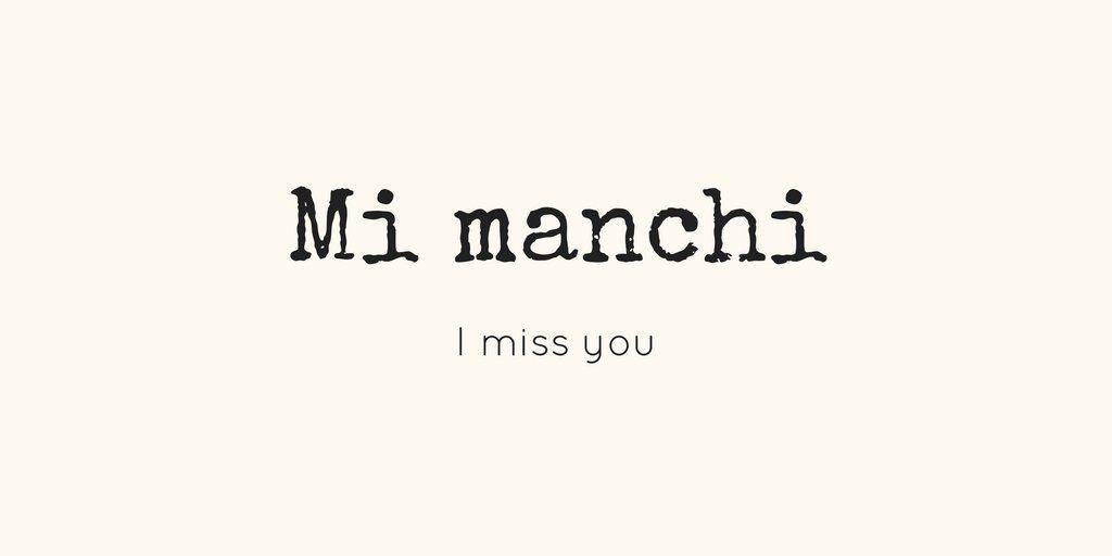 Learning Italian Language ~ MI MANCHI (I MISS YOU) IFHN