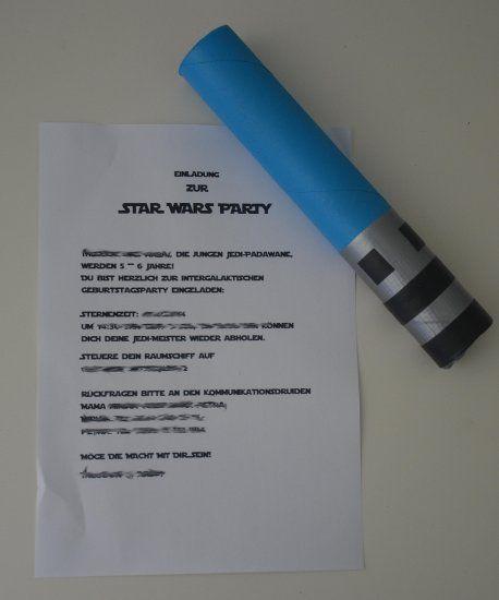 wir laden ein - lichtschwerter-einladungen | basteln | pinterest, Einladung