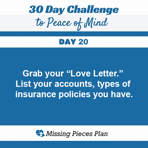 Grab Your Love Letter List Your Accounts Types Of Insurance