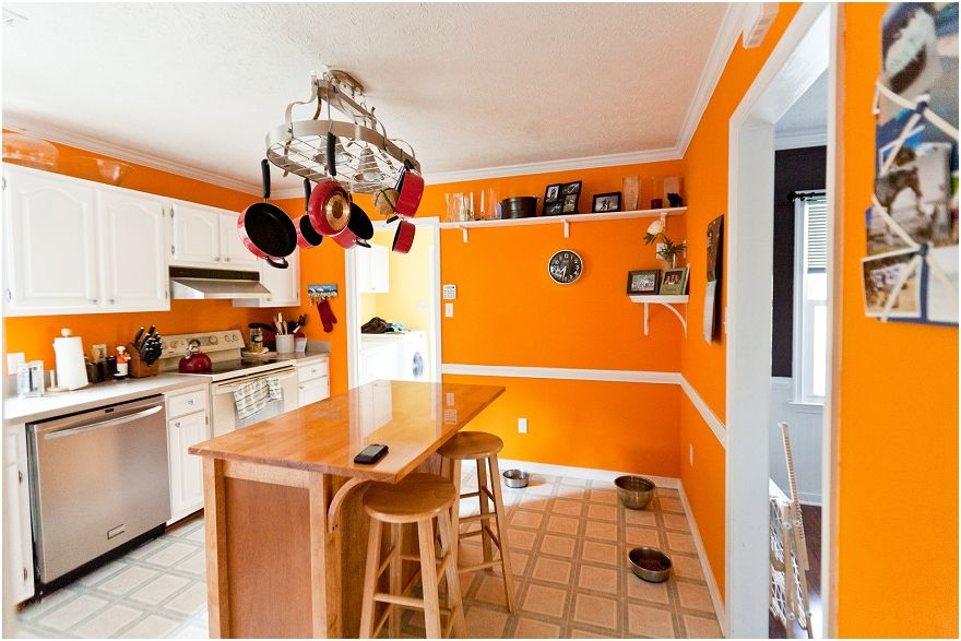 Retro Orange Kitchen Design With Spectacular Tone Best Interior
