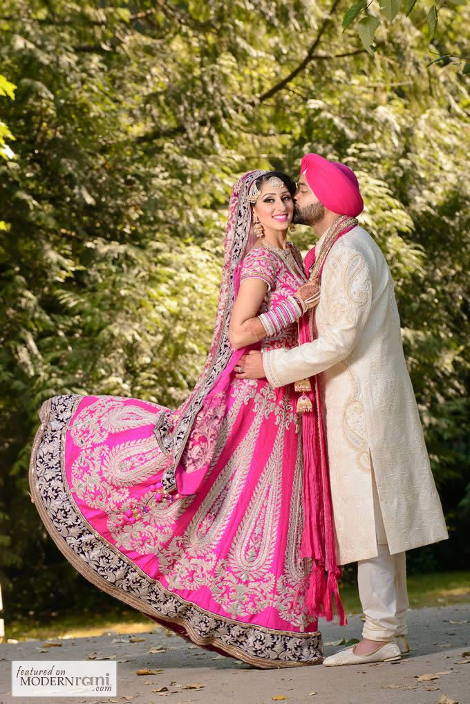 Sikh Real Wedding - more inspiration at http://www.ModernRani.com ...