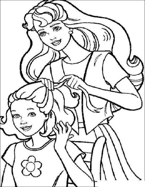 1989 Barbie Skipper Coloring Book Coloring Pages
