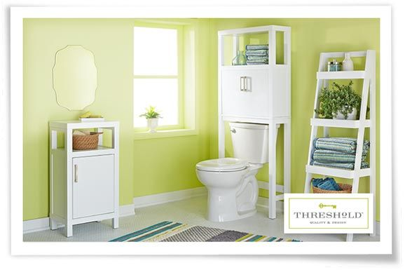 Bathroom Furniture Cabinets Storage Target Over The Toilet And Ladder Next To Sink