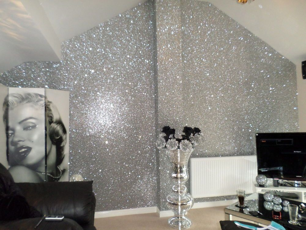 Diy glitter accent wall minimalist house ideas