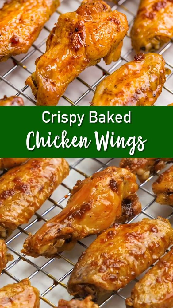 Crispy Oven Baked Chicken Wings - Easy Peasy Meals
