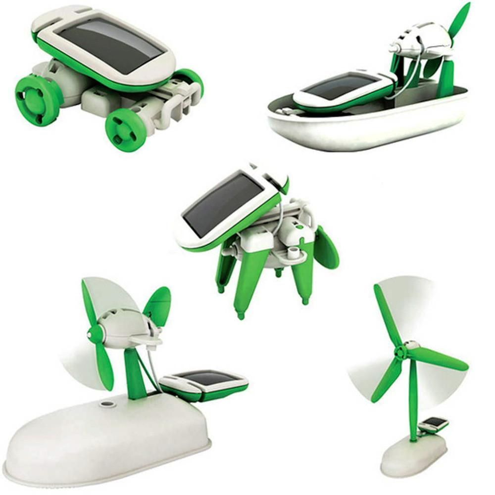 Educational car toys  Hot Solar Power  in  Toy Kit DIY Educational Robot Car Boat Dog