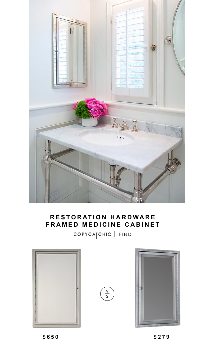 Restoration Hardware Framed Inset Medicine Cabinet Home