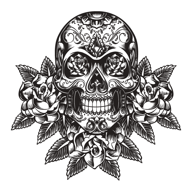 Tattoo Png Aesthetic Hd: Vinilo Decorativo Calavera Tribal
