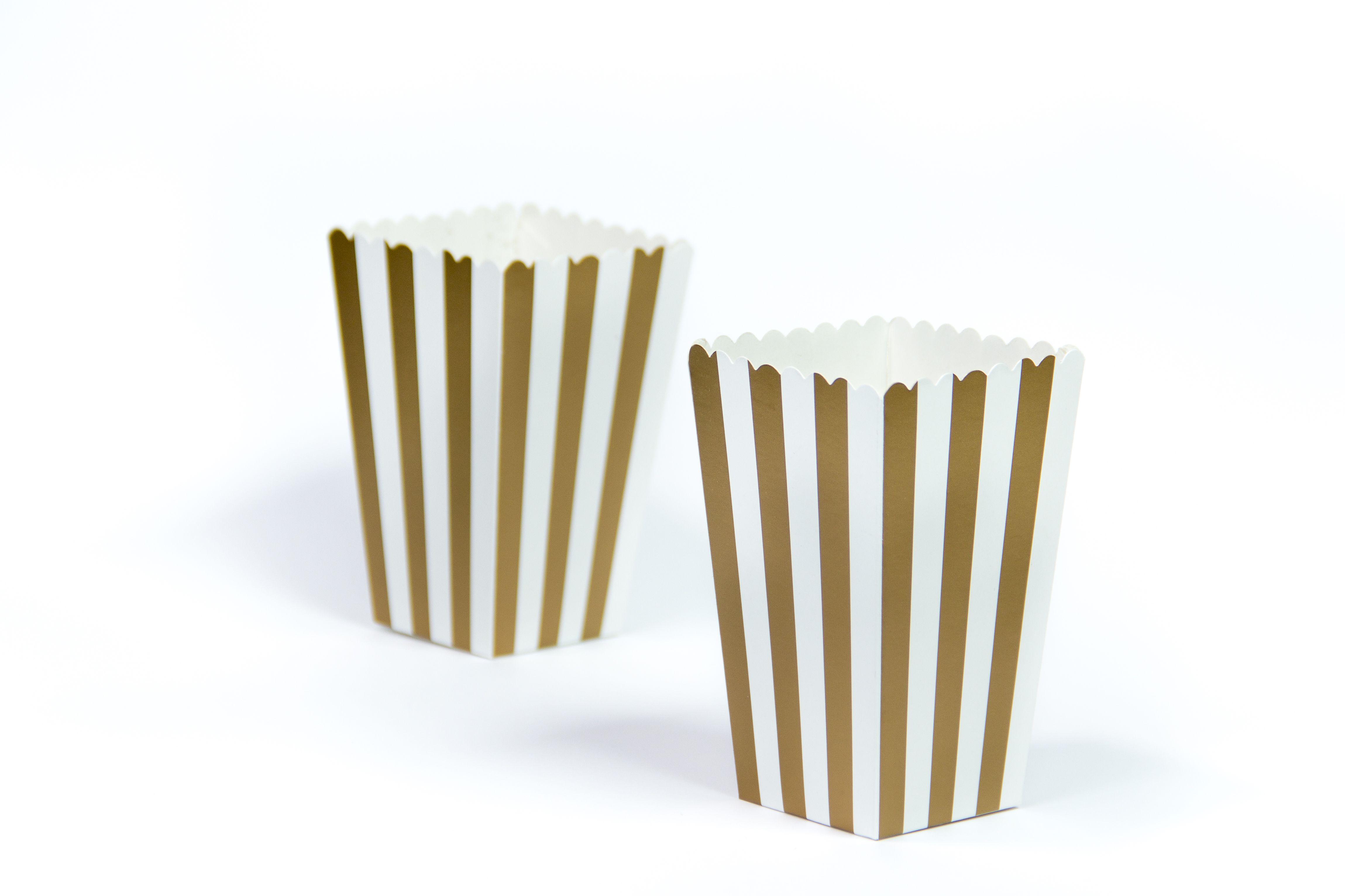 moushii Mini Popcorn Box Gold Stripes    www.moushii.com
