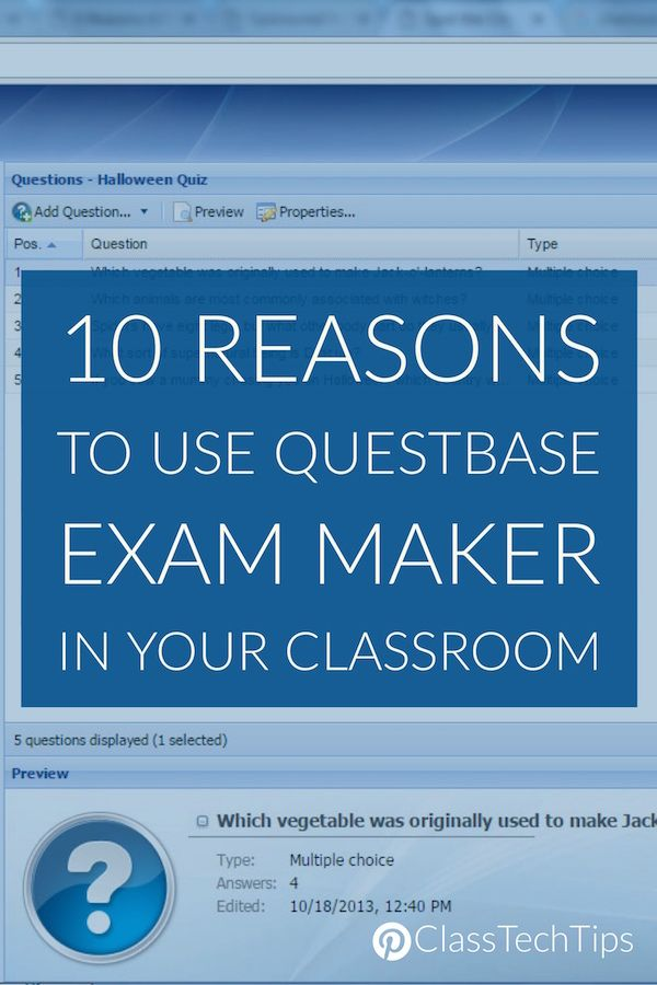 10 Reasons to Use QuestBase Exam Maker in Your Classroom | Science