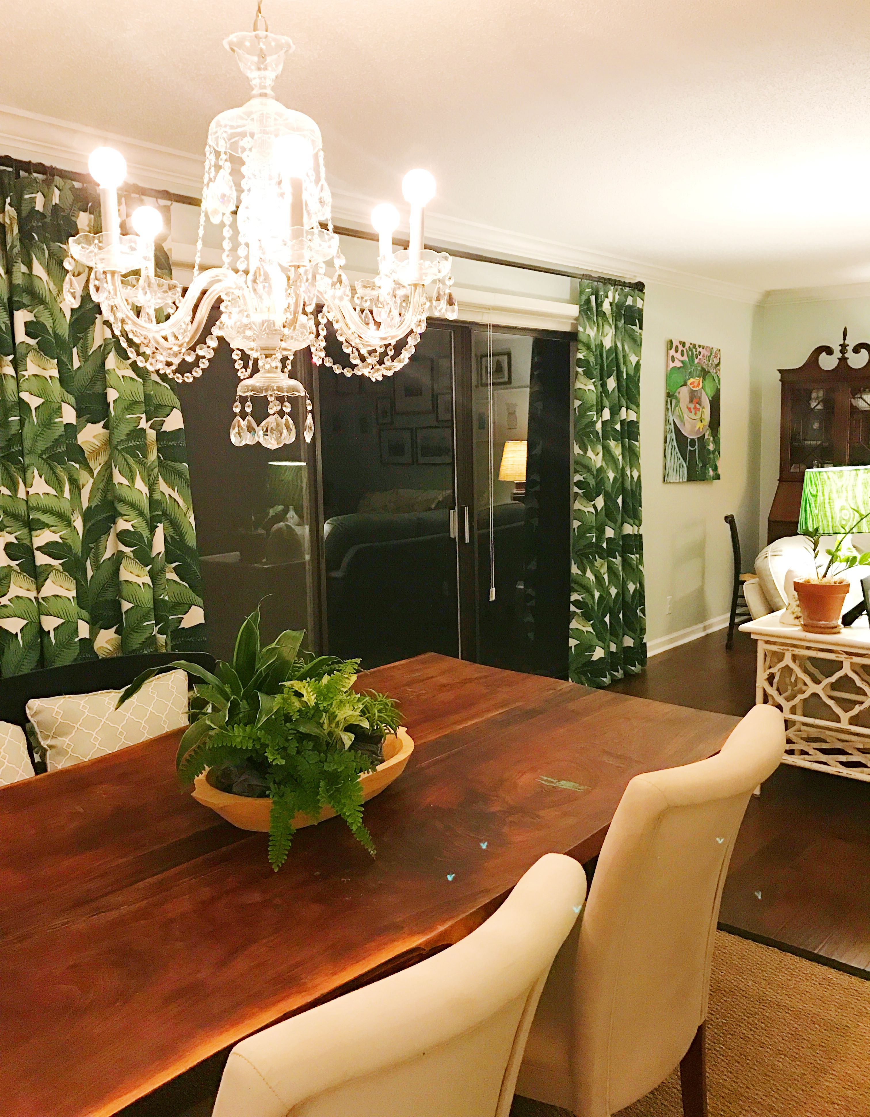 Dining Room Living Room Palm Leaf Fabric Tommy Bahama Swaying